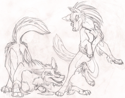 Lets Play Sketch by StangWolf