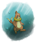 Buizel Bubbles by His-Bushman