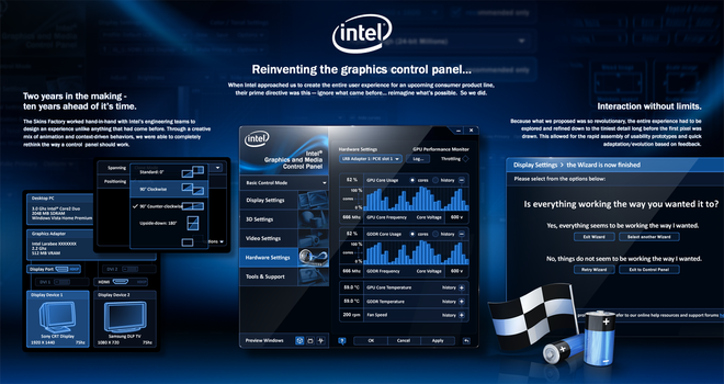 Intel Graphics Control Panel UX + UI Design View 3 by skinsfactory