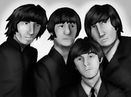 the fab four by JediKaputski
