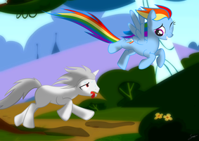 Rainbow Dash gives Suz Workout by Suzano