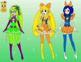 Genderbend Iggy Dodgers main characters in Precure by Aso-Designer