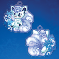 Alolan Vulpix Double Sided Charm PREORDER by XxShirokoxX