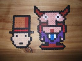 Layton and Don Paolo - Hama Beads by TheRedGummyBear