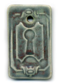 Ceramic Keyhole Pendant by ChinookDesigns