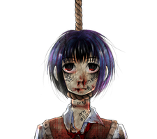 Hanged girl by Xx-kumaki-xX