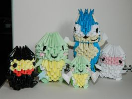 3d origami collection by BAZZ1392