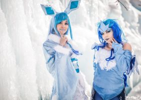 Glaceon and Articuno by XSinTrick