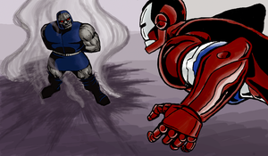 DARKSEID VS IRON PATRIOT R2 by Ragnaroker