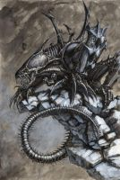 Alien Genestealer Hybrid by Rhodri
