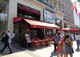 Pizza Vesuvio on Champs Elysees by EUtouring