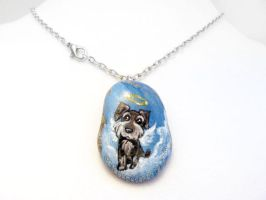 Miniature Schnauzer Dog Pendant Necklace 2 / Sold by sobeyondthis
