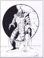 Creature from the Black Lagoon by storyteller1023