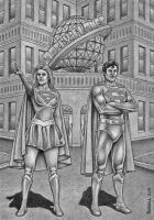 The Daily Planet  B+W by Bungle0