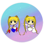 Sailor Moon and Neo Queen Serenity by tiny-moon