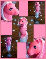 Pink Champagne- a Custom Sea Pony by wylf