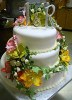 Orchids wedding cake by buttercreamfantasies