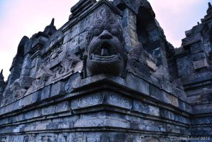 borobudur temple detail by DulinnAduial