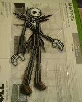 Jack Skellington Perler Art by m0n0xide20