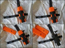 NERF 2x18 Bungee Mag Pouch / Clip Holder by MarcWF
