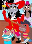 Captain HookWolf and Piratedogs by AsmodeodeSinan