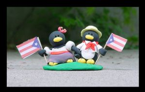 Puerto Rican Penguins by pinguinadearte