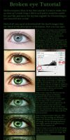 Broken eye tutorial by Miumi-U