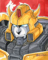 bumblebee sketch by markerguru