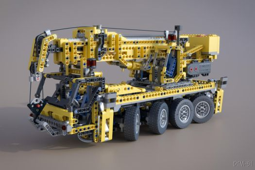 3D Lego Mobile Crane 8421 by DTM-51