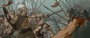 Rome versus barbarian by Odinrules