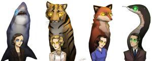Ayn Rand's Night of January 16th - Spirit Animals by MzyLeRouge