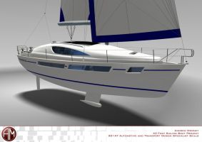 AM 40 Prestige Sailing Yacht 5 by AndrewMooneyDesign