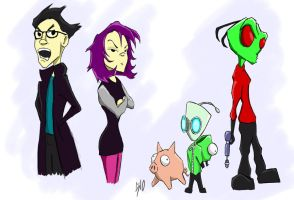 invader zim by SINGLETON930
