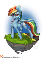 Island Pony - Rainbow Dash by NorthernSprint