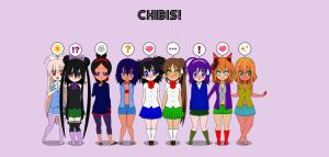 My 9 Chibi Girls by Rokku-D