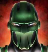 Z MASK DIGITAL PAINTING by KYLE-CHANEY