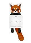 Red Panda Clock Animated by Coffin-Rabbit