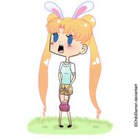 Happy Easter from Usagi by ChibiDarren