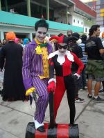 Joker and Harley Quinn Cosplay by pamzynha