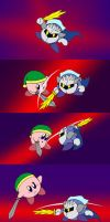 Kirby vs Meta Knight by Rainbow-Boa