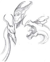 Maleficent Pre-Movie Sketches by ConstantM0tion