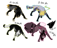 Adoptables set 4 - TAKEN by SorahChan