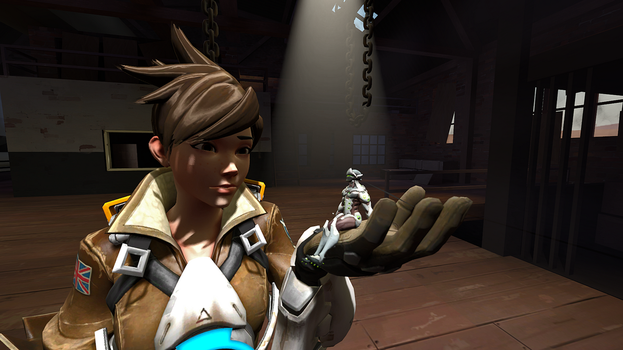 Test 1 (Tracer and Genji) by 3D-Giantess-Studios