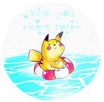 Pikachu at the Beach by Ayelk