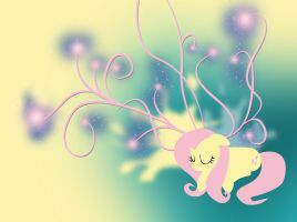 Sweet Dreams Fluttershy Wallpaper by buckheadgar