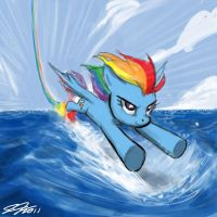 Water Streaking by johnjoseco