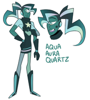 Aqua Aura Quartz by blinkpen
