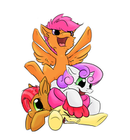 Pony Pile by LinnyIllustrates