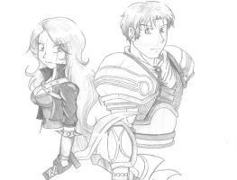 Katarina and Garen by SedatedRabbit