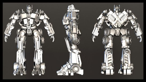 Optimus prime final Render by pranayk